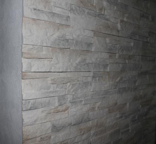 Verarbeitung einer Steinwand